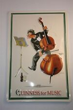 "3D Blechschild Guinness Bier 20x30 cm "" GUINNESS FOR MUSIC "" Irland Tin Sign"