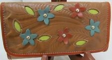 *NWT*American West Tri-fold Wallet *Colorful Desert Flowers*