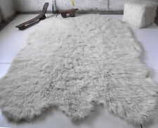 "6' x 9' SHEEP'S WOOL FLOKATI SHAG RUG/ ORGANIC WOOL/ LONG 3""+COMFY PILE"