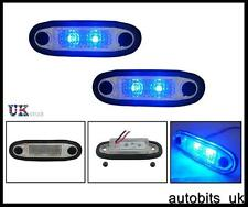2 X 12V FLUSH LED BLUE MARKER LAMP LIGHTS FOR BULL ROOF BAR SIDE STEP CAB