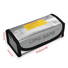 LiPo Safe Battery Guard Charging Protection Bag Explosion Proof 185*75*60mm New