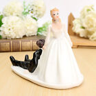 Wedding Cake Toppers Funny Bride Groom Couple Figurine Figure Bridal Decoration