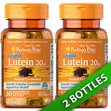 Puritan's Pride Lutein 20 mg with Zeaxanthin 800Mcg  2X30 Pills