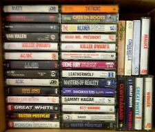 36 VINTAGE 80S/90S TAPE LOT/AC/DC/VAN HALEN/RATT/GREAT WHITE/OZZY/POISON/WINGER