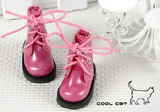 ☆╮Cool Cat╭☆【15-08】Blythe Pullip Doll Short Shoes # Shiny Deep Pink