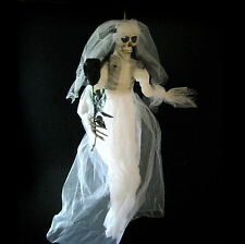 Skeleton Bride & Black Rose Undead Wedding Halloween Party Decoration  Prop 32""