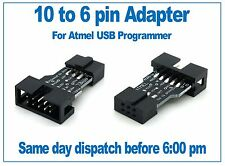 10 way to 6 way Atmel programmer ICSP adapter, suitable for USBasp, USBISP, AVR