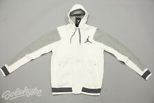 NIKE JORDAN VARSITY JACKET 2.0 HOODIE WHITE DARK GREY HEATHER 547693 101 SZ L