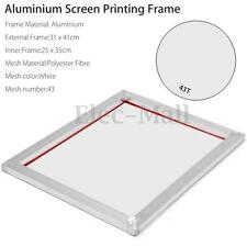 A3 Screen Printing Aluminium Frame Stretched With White 43T Silk Print Mesh