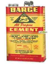 Barge Original All-Purpose Rubber Cement Glue Toluene Quabaug Tin Can 1 Gallon