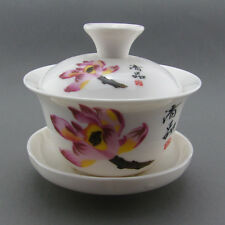 Pink Lotus Flower Gaiwan Gongfu Teapot Tea Cup Covered Tea Bowl GW031