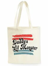 SUICIDE SQUAD DADDY'S LIL MONSTER SHOPPING CANVAS TOTE BAG IDEAL GIFT PRESENT