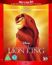 The Lion King 3D Blu-Ray 3D + 2D Disney BRAND NEW FREE SHIP special slipcover