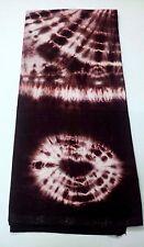 Batik Tie & Dye Sarong Mundu Lungi Dhoti Fabric Rayon- Maroon & White- Men Women