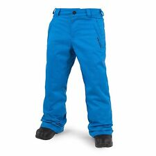 2017 NWT YOUTH BOYS VOLCOM EXPLORER INSULATED SNOWBOARD PANTS $100 M cyan blue