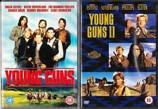 YOUNG GUNS 1 & 2 Blaze Of Glory Estevez*Sutherland*Sheen Cult Western DVD *EXC*
