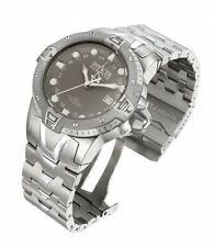 New Mens Invicta 0648 Reserve Sea Excursion GMT Grey Dial Steel Bracelet Watch