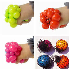 Anti Stress Face Reliever Grape Ball Autism Mood Squeeze Relief ADHD Toy Gift