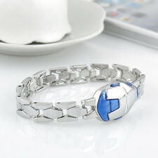 Men Women Stainless Steel Charm Iron Man Transformer Shape Chain Bracelet Bangle