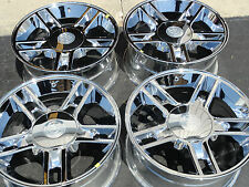 "NEW set 4 Fits 20"" Ford F150 Harley Davidson Wheels Rims Chrome 3410 caps"