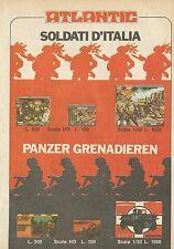 X4686 Panzer Grenadieren - ATLANTIC Soldati d'Italia - Pubblicità 1975 - Advert.