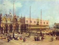 San Marco Square (Venice) by Canaletto Fine Art Giclee Canvas Print