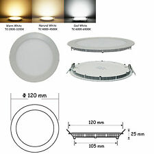 9W Round Non-Dimmable LED Recessed Ceiling Panel Lights Cool White N2303