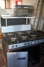 Commercial Heavy Duty Industrial 6 Ring Gas Oven, Grill, Hot Countertop Cabinet
