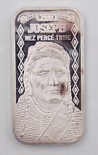 Chief Joseph The Silver Mint 20 Grams .999 Pure Silver Bar Limited Edition 5000