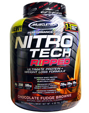 NEW MUSCLETECH NITRO TECH RIPPED ULTIMATE PROTEIN + WEIGHT LOSS FORMULA HEALTHY