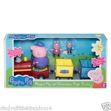 New Peppa Pig grandpa train with George figure speech & sound playset toy 3+