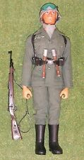 ORIGINAL VINTAGE ACTION MAN LOOSE GERMAN STORMTROOPER EAGLE EYE FLOCKED HEAD 142