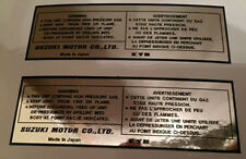 SUZUKI RM PE KYB KAYABA REAR SHOCK ABSORBER CAUTION WARNING DECALS X 2