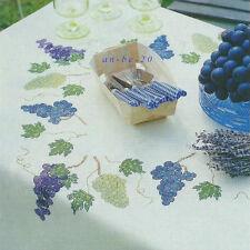Stickvorlage * Weintrauben * Decke mit Trauben Kreuzstich Anchor Coats