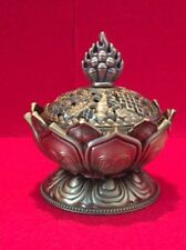 Solid Metal The Lotus Flower Resin Burner