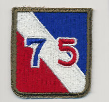unsewn 75th Infantry Division patch. MINT dated 1945 - WWII - Ardennes Forest