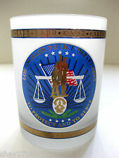 LOS ANGELES POLICE DEPARTMENT FROSTED GLASS  4.25 INCHES TALL