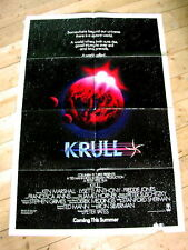 KRULL Original SCI-FI FANTASY Teaser Movie Poster PETER YATES FRANCESCA ANNIS