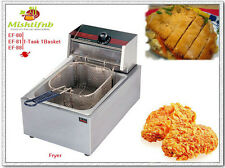 5.5 Liter Electric Countertop  Single Tank Deep Fryer Commercial Restaurant