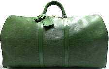 Louis Vuitton EPI KEEPALL 55 XL Reise Tasche Weekender Bag Grün Green Vert K