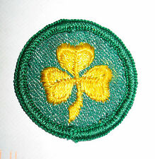 1955-1963 Girl Scout ROUND Insignia SECOND 2nd CLASS Patch NEW Flat Edge