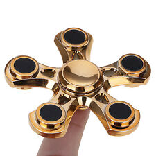 LED Light Stress Reducer Fidget Hand Five Quinary Spinner EDC Toy For Kids/Adult