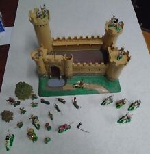 vintage Louis Marx miniature playset knights &  Castle toys 1960's hong kong