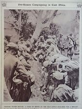 1917 INDIAN SEPOYS DRAWING WATER IN EAST AFRICA DRY SEASON WWI WW1