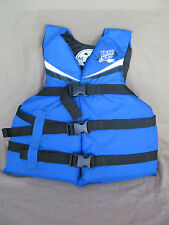 "Maui and Sons Ski Vest Life Jacket Youth Chest Size 25-29"" 50-90 Pounds Blue"
