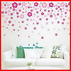 Floral rain flower Wall decals Removable stickers decor art kids nursery home