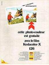 PUBLICITE  1971   KODAK   Kodacolor X 126