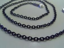 John Hardy Mens Unisex Sterling Silver Black Stainless Steel Cable Rolo Chain 28