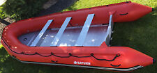 16' Saturn Inflatable Boat, Fire Rescue Boat, Dinghy with Aluminum Floor