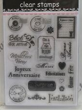 French Postage Memorabilia & Sentiments Clear Stamps 19 Designs (1906)Cardmaking